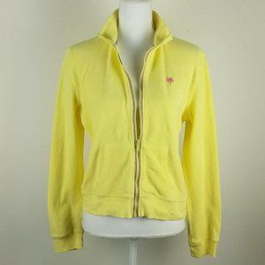 Lilly Pulitzer Yellow Terry Cloth Track Jacket